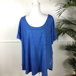 Lane Bryant Blue Short Sleeve Tee Women Plus 26/28